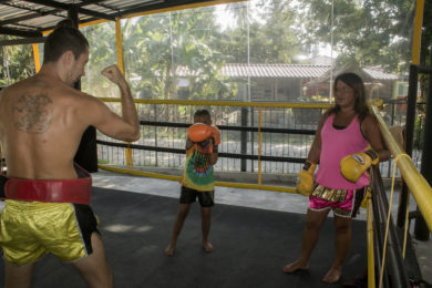 Muay Thai family training